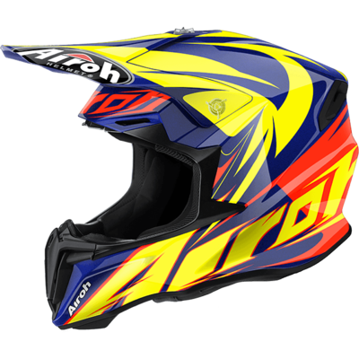 KASK OFF-ROAD AIROH TWIST EVIL BLUE GLOSS
