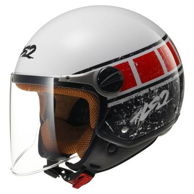 KASK OTWARTY LS2 OF560 ROCKET II ROOK WHITE RED